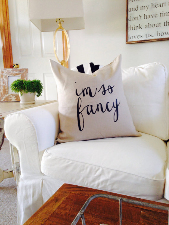 I'm so fancy pillow house of belonging  - sarahandtheboysblog