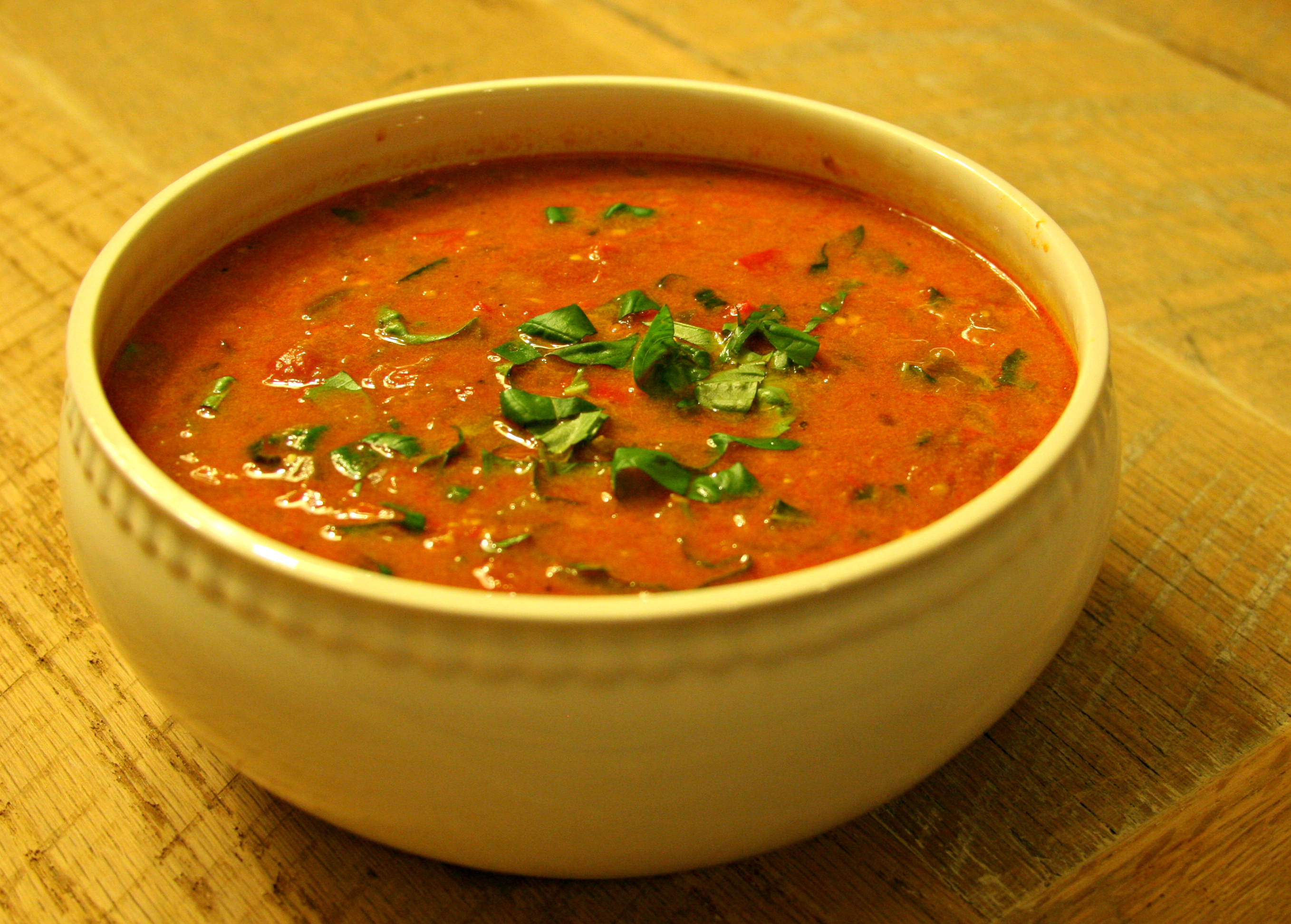Chunky Tomato-Red Pepper Soup | Sarah And The Boys