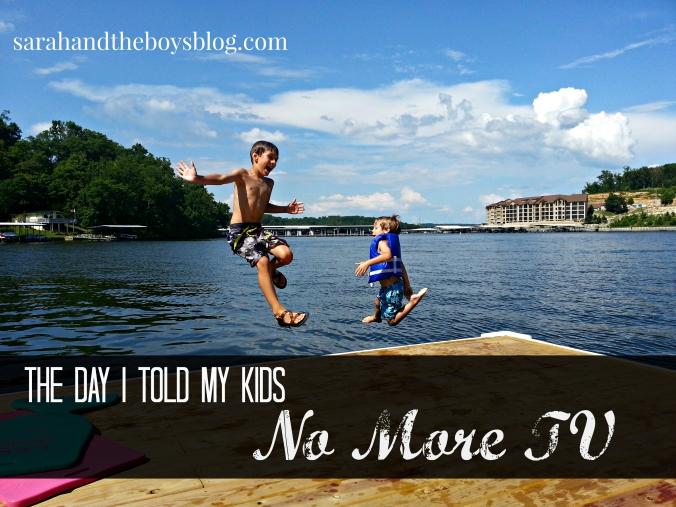 The Day I Told My Kids No More TV // Sarahandtheboysblog