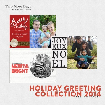 two more days greeting card set