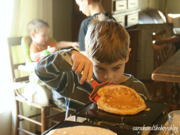 Piece of Cake Whole Wheat Pancake // sarahandtheboysblog