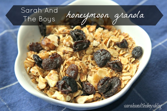 sarahandtheboysblog honeymoon granola