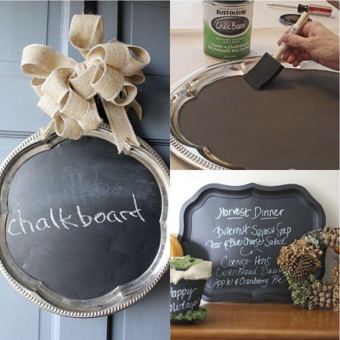 chalkboard platter ideas