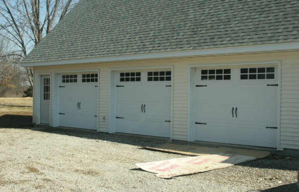 garage doors finished