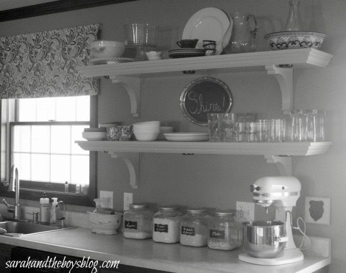 kitchen shelf sarahandtheboysblog